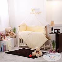 Набор в детскую кроватку Golden желтый (7 предметов), фото 1