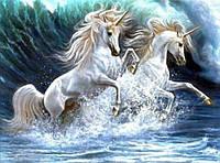 Алмазная вышивка Волна лошадей KLN 30*40 см (арт. FS200)