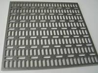 Лист перфорированный с продолговатыми отверстиями с прямыми рядами