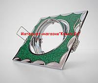 Точечный светильник встраиваемый СТС-В 1555 цвет хром+зеленый