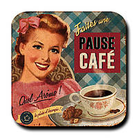 Магнитик Барышня с кофе