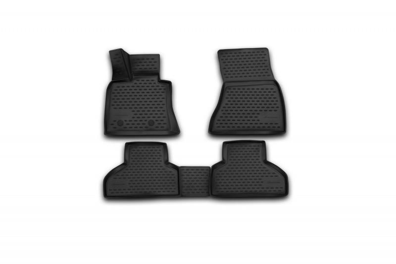 Коврики в салон для BMW X5 2013->, 4 шт полиуретан  NLC.3D.05.38.210k