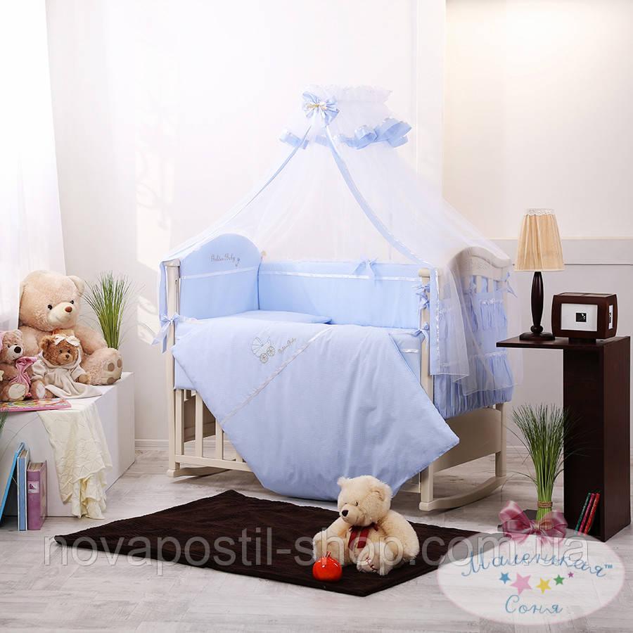 Набор в детскую кроватку Golden фиалковый (7 предметов)