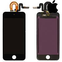 Дисплейный модуль (дисплей + сенсор) для iPod Touch 5G, черный, оригинал