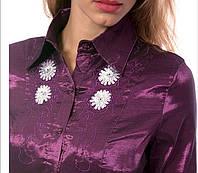 Нарядная шифоновая рубашка c пайетками. Размер 44