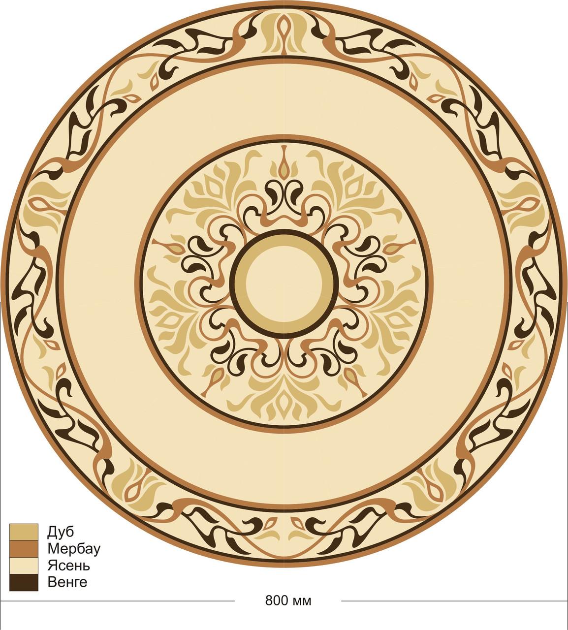 Розетка Цветок  диаметр 1м из ясеня