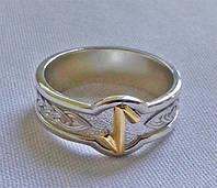 Кольцо с золотой Руной Эйваз, Ейвис (Eihwaz)