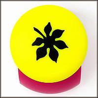 Дырокол фигурный Лист каштана кнопка 2,5 см
