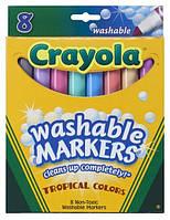Фломастеры  tropical colors Washable (на водной основе) 8 цветов, Crayola (Крайола)