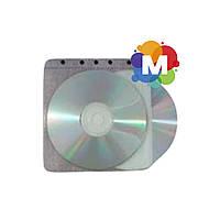 Конверт пластиковый для 2CD белый (к сегр)