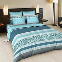Семейный комплект постельного белья, бязь Корнелия бирюза (хлопок 100%)