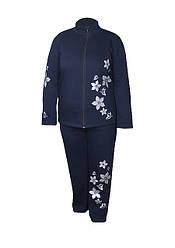 Теплый спортивный костюм трехнитка Цветы - женский
