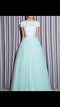 Брендовое женское вечернее платье пышное выпускное нарядное итальянское
