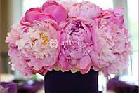 Композиции розового цвета, настольные композиции с фиолетовыми цветами