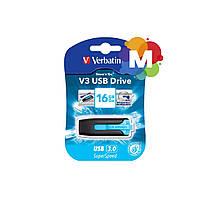 Флеш-драйв VERBATIM SuperSpeed V3 USB 3.0 16Gb Caribbean Blue 49176
