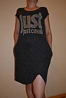 Платье женское летнее  черное с карманами