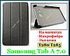Черный TF CASE чехол для Samsung Galaxy Tab A 7.0 T280 T285 ультратонкий с магнитами