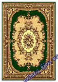 """Синтетический прямоугольный ковер эконом-сегмента Gold Karat """"Роуз"""", цвет зеленый"""