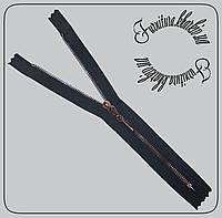 Молния карманная металлическая №3 20см Чехия черная