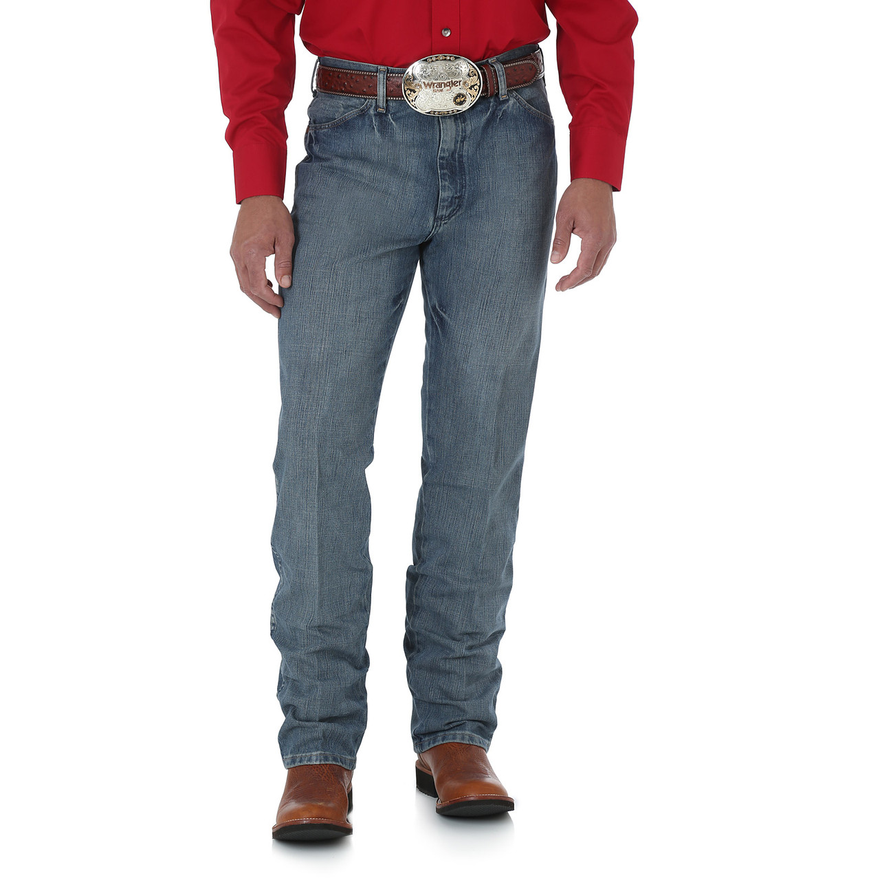 Джинсы Wrangler Cowboy Cut Slim Fit, Blue Granite, 33W34L, 0936BGM, фото 1