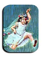 Магнитик Девочка под дождем