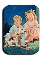 Магнитик Дети и собака