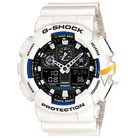 Спортивные часы Casio G-Shock ga-100 White Black (Касио)