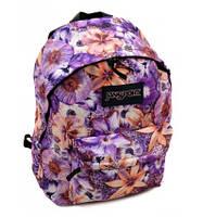 Городской рюкзак фиолетовые цветы