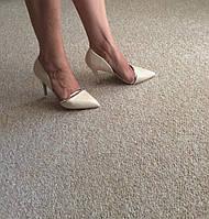 Туфли лодочки свадебные женские на каблуке,босоножки с закрытым носком на каблуке айвори, бежевые 36-40