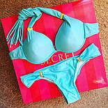 Женский красивый однотонный купальник с  пуш ап (2 цвета), фото 4