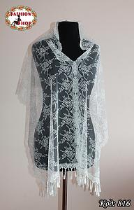 Свадебный шарф Лира(айвори)