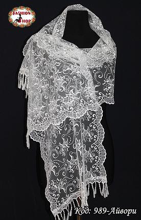 Свадебный шарф Камила (айвори), фото 2