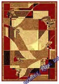 """Синтетический ковер эконом-сегмента Gold Karat """"Мозаика"""", цвет красный"""