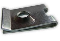 Зажим металлический под саморез 5,6x13x21мм Серый