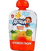 Пюре фруктове Агуша, 90 мл., яблуко-персик