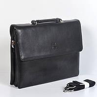Мужская сумка-кейс через плечо  А4 Gorangd 6717-6 - (черная)