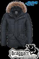 Куртка зимняя мужская Braggart Dress Code - 3860C графит