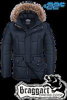 Куртка зимняя мужская Braggart Dress Code - 3860B темно-синяя
