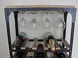 Стол-стелаж для вина Loft Style , фото 5