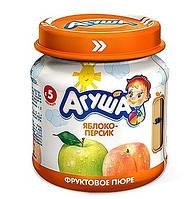 Пюре фруктове Агуша, 115 мл., яблуко-персик
