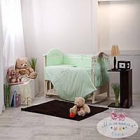 Набор в детскую кроватку Golden зеленый (6 предметов), фото 1