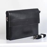 Мужская сумка-кейс через плечо  А4 Gorangd 886-6 - (черная)