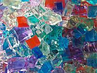 Гидрогель квадратный разноцветный