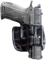 Кобура Front Line поясная компактная, кожа, для Glock 17, 22, 31 ц:черный