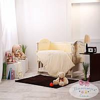 Набор в детскую кроватку Golden желтый (6 предметов), фото 1