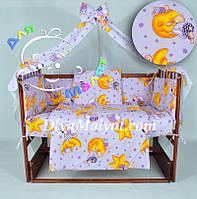 Детское постельное белье Мишки на луне