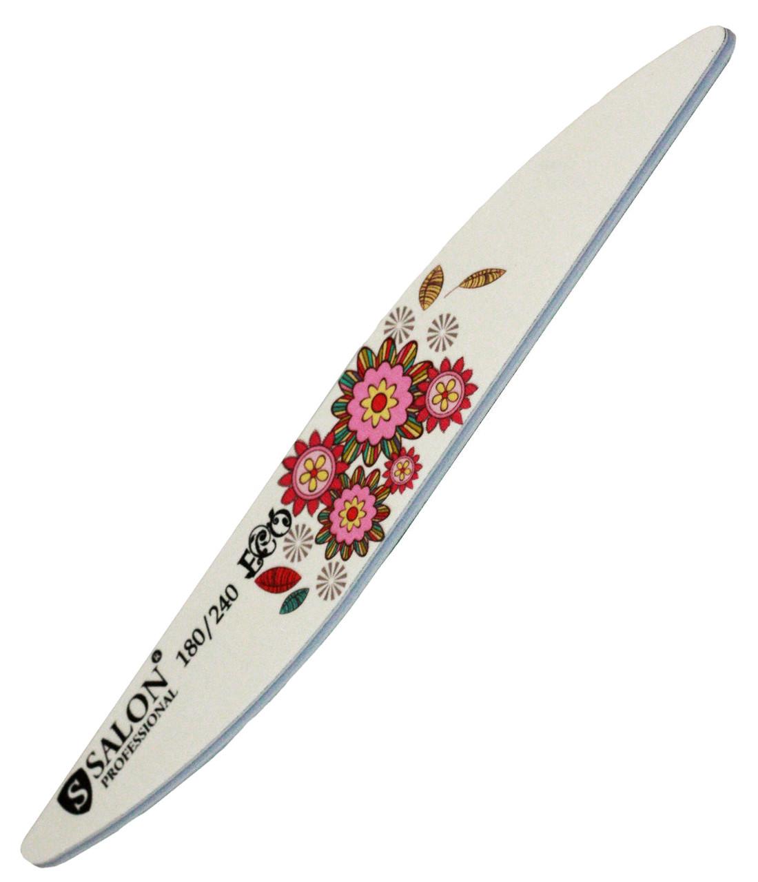 Пилки для ногтей SALON PROFESSIONAL (180/240) Teflon, капля, цветы, Eco