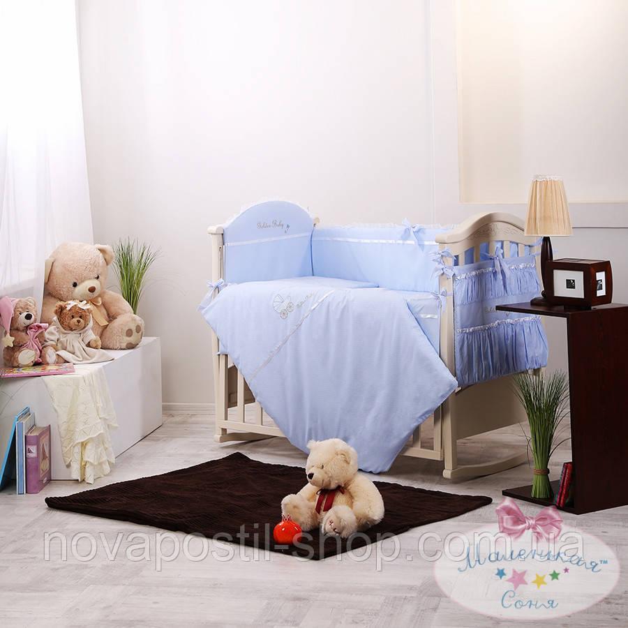 Набор в детскую кроватку Golden фиалковый (6 предметов)