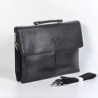 Мужская сумка-кейс через плечо  А4 Gorangd 9824-6 - (черная)