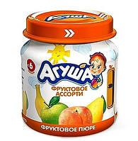 Пюре фруктове Агуша, 115 мл., яблуко-груша-банан-персик